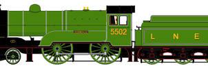 LNER D11/1 liveries - 5502 'Zeebrugge'