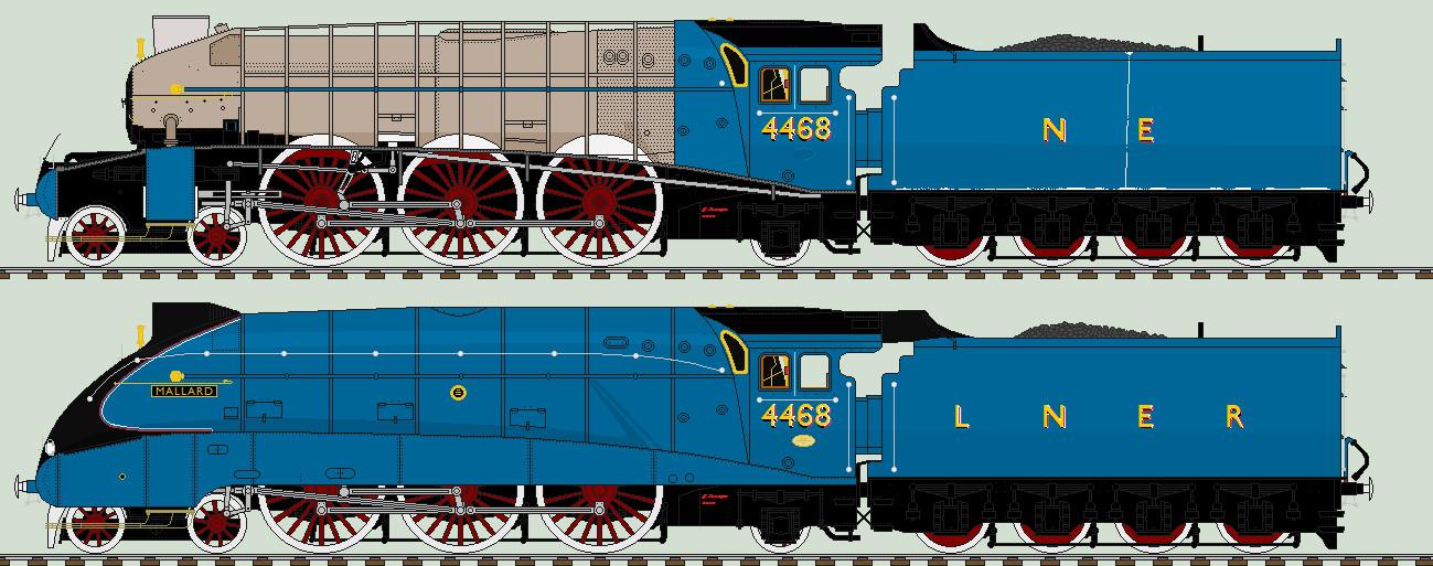 LNER A4 liveries - 4468 'Mallard' 1985 - 1988 by 2509-Silverlink