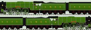 LNER A3 liveries - 4472 'Flying Scotsman' - 1968