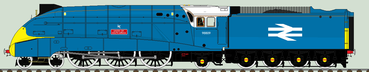 British Railways Corporate 'Large Logo' Blue A4 by 2509-Silverlink