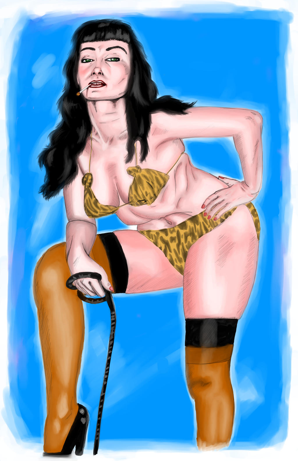 Bettie Page Color By Mr Dantelope On Deviantart Bettie Page Color