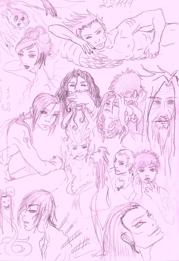 Gods. Sketch by itachis-twin