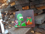 Shut up and take my gold leather meme wallet by Bayvey