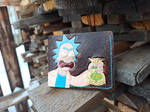 Shut up and take my schmeckles leather meme wallet by Bayvey
