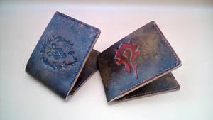 Warcraft Horde Alliance wallet