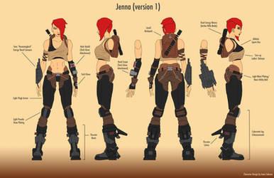 Jenna Character Concept (Original Character) by IsaacCabrera