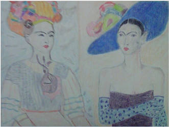 Two Fridas by lothairebeaumont
