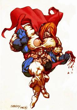 ZeboGirl vs SuperBoy (between her thighs)