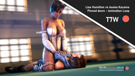'Pinned down' - Lisa Hamilton vs Asuka Kazama by Tekken7Wallpapers