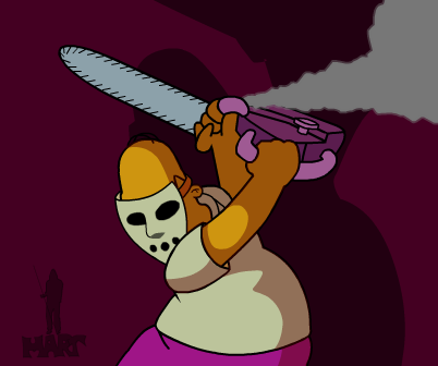 HS - Chainsaw and Hockey mask by Mortensen