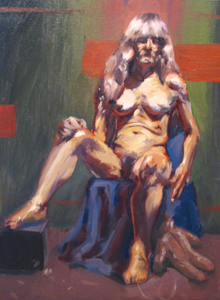 Figure Model Painting 1 By PRATT FACE