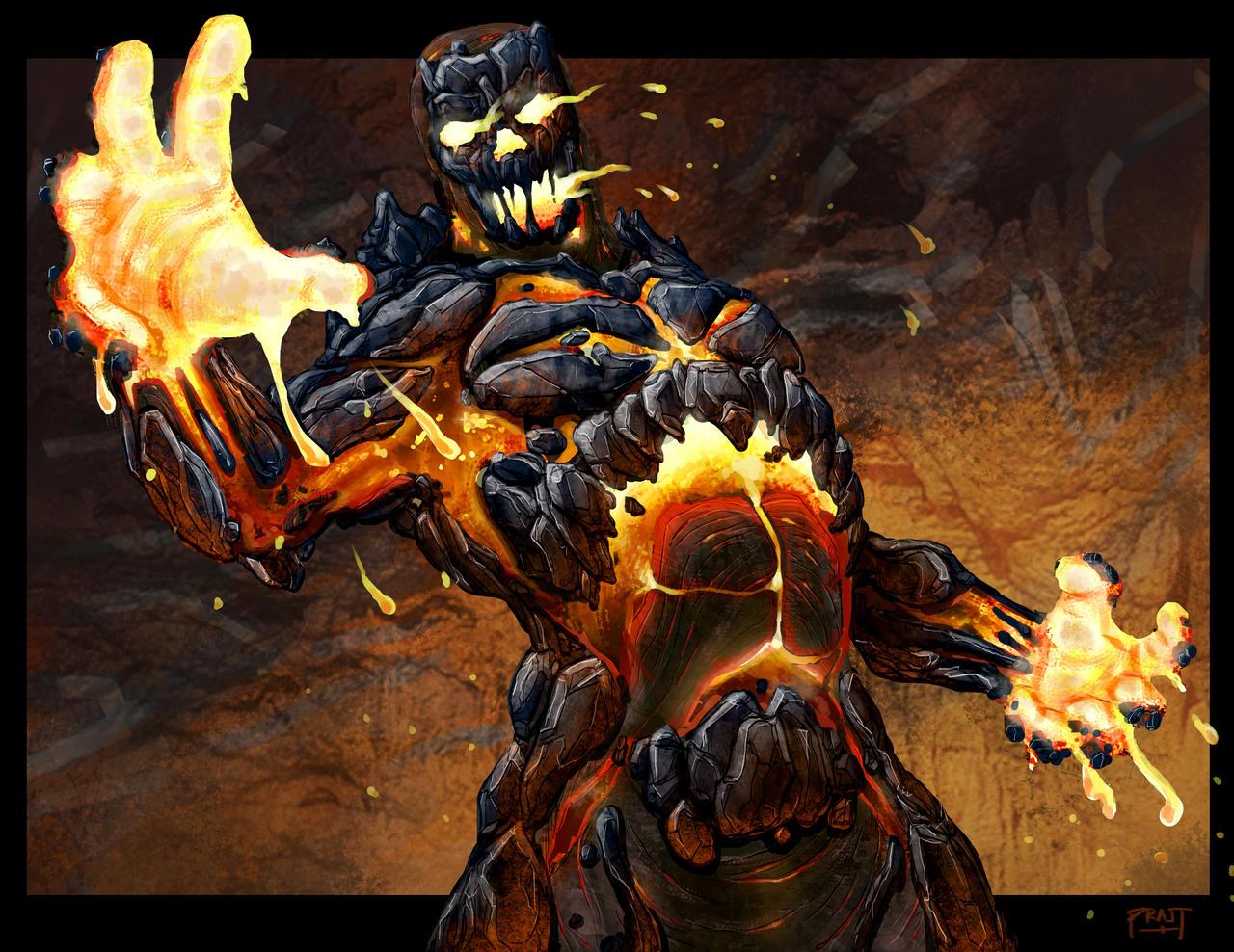 Magma Monster By Pratt Face On Deviantart