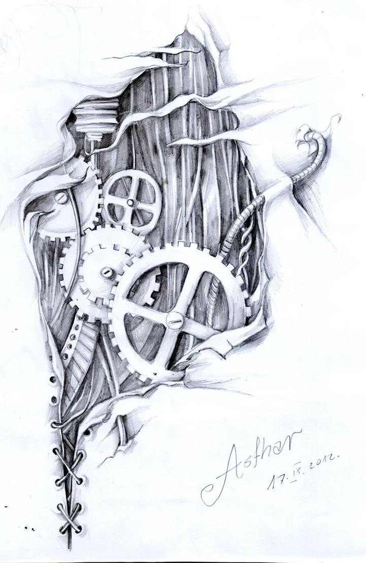 Biomechanical by artofasthar on deviantart for Biomechanical hand tattoo designs