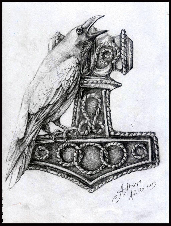 Thor by artofasthar on deviantart for Ragnar head tattoo stencil