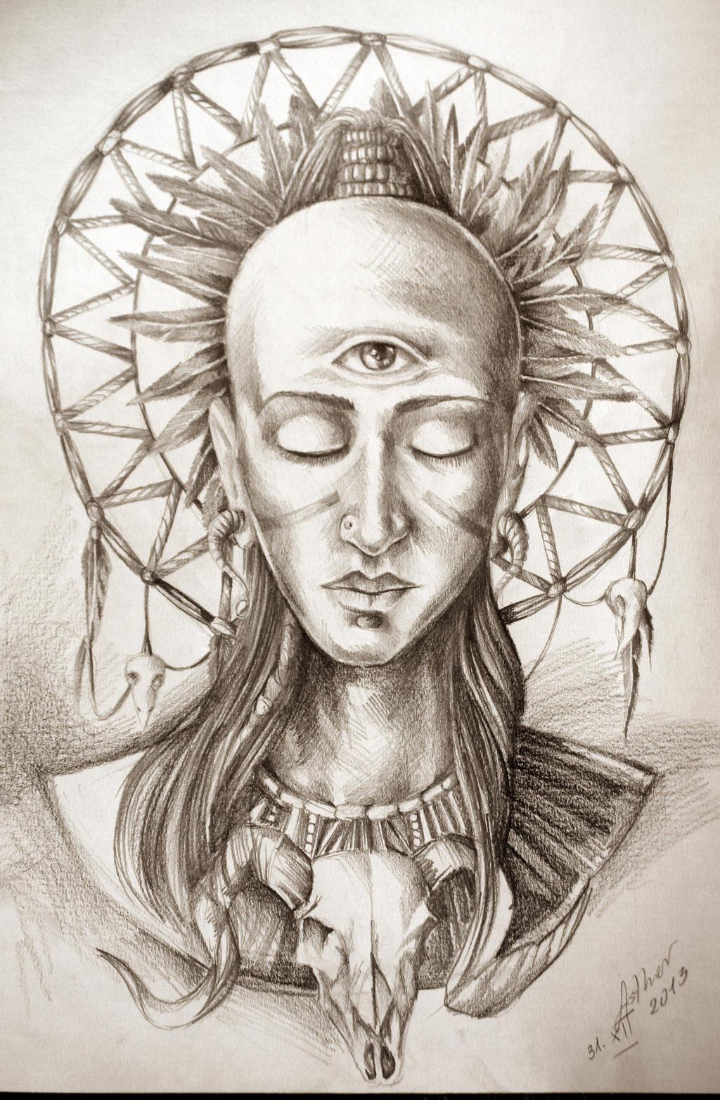 Aztec Tribe by ArtOfAsthar on DeviantArt  Aztec Pencil Drawings