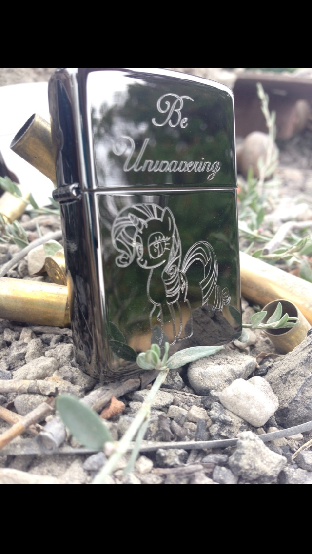 Be Unwavering Statuette (Zippo) by Quirkyaphid95