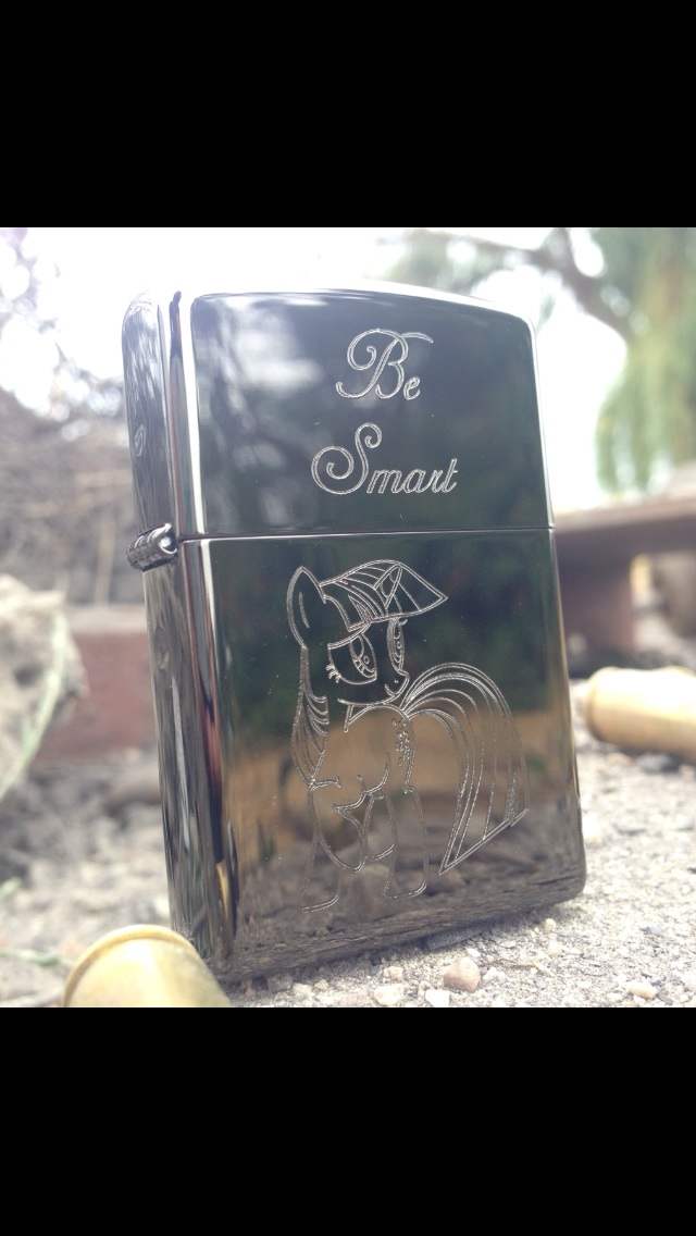 Be Smart Statuette (Zippo) by Quirkyaphid95