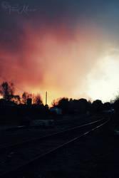 sunset tracks by TrishaMonsterr