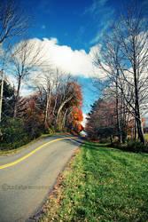 under autumn trees by TrishaMonsterr