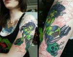 zombie pin-up tattoo by TrishaMonsterr