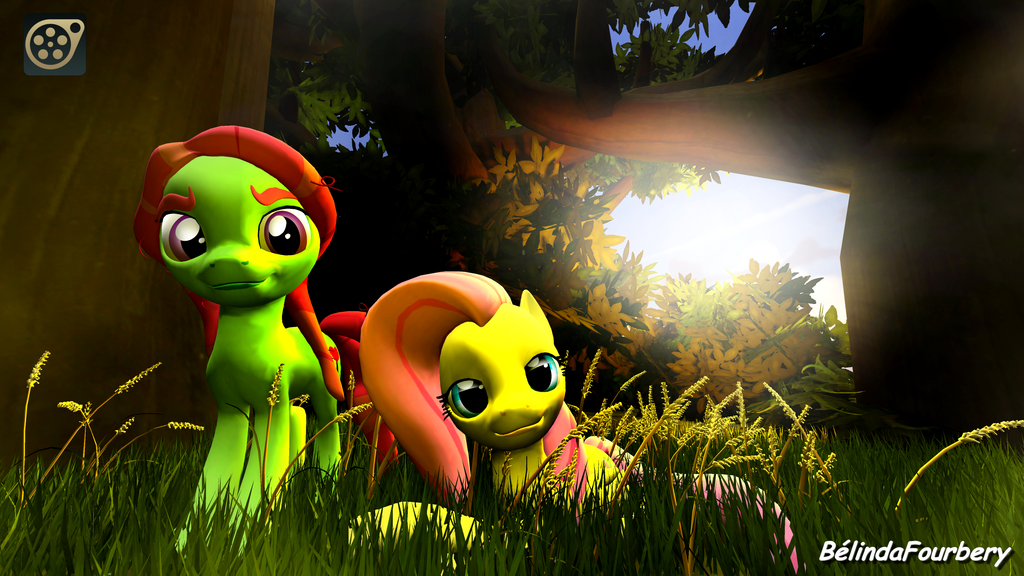 [SFM] Tree Hungger and Fluttershy by BelindaFourbery