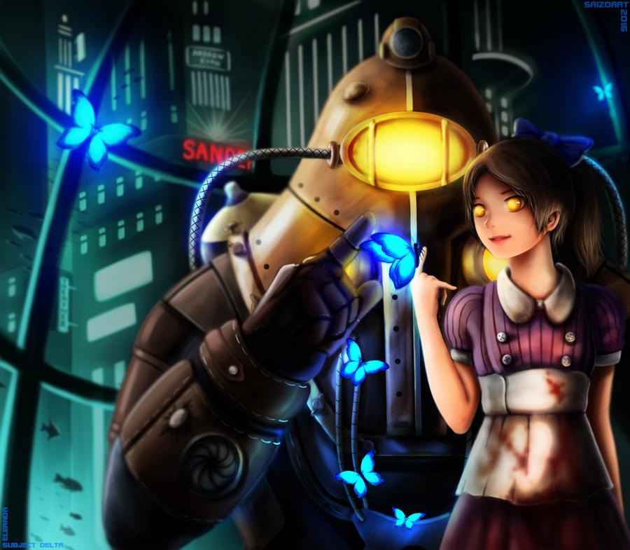 Commission: Bioshock (Eleanor and Subject Delta) by Saizo-san ...