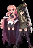 Louise and Shana Vector by MakiseKurisu