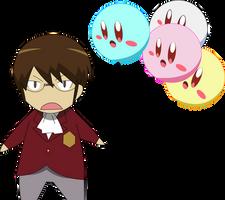 Katsuragi Keima and Kirby by MakiseKurisu