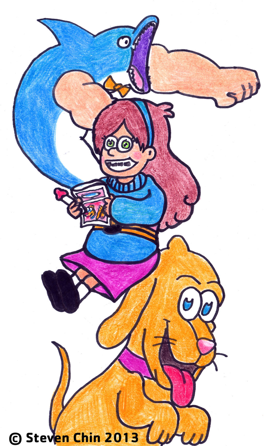 Gravity Falls - Mabel eating Smile Dip by Rocket-Stevo