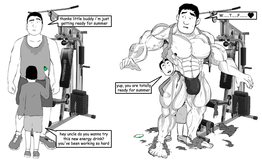 Gay muscle growth comic
