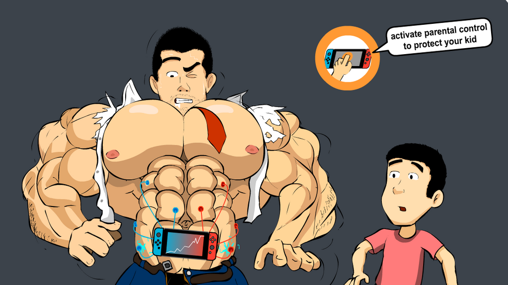 Nintendo Switch - Muscle Growth by Salvador503