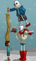 Hot Dogs With Frisk by AttackGoose