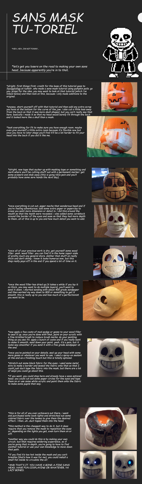 Sans Mask Tutorial by AttackGoose