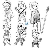Undertale redesign sketches by AttackGoose