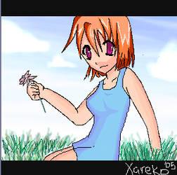 Wanna have a flower? Smile by Xareko
