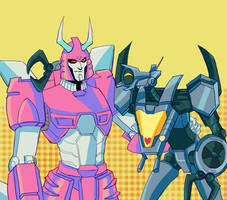 Cyclonus and Whirl by Jigyon