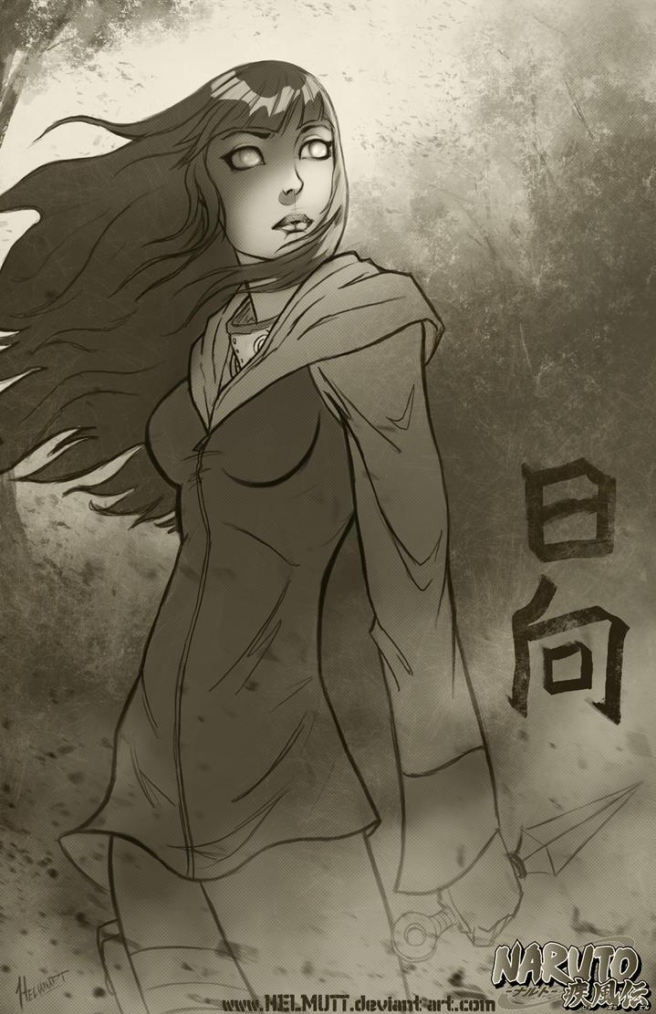 Hinata Sketch by HELMUTTT