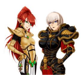 Warhammer 40k - Banshee VS Sister by iforher