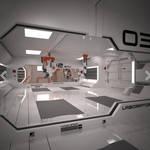 Sci fi Corridor Hallway Interior 3D model free