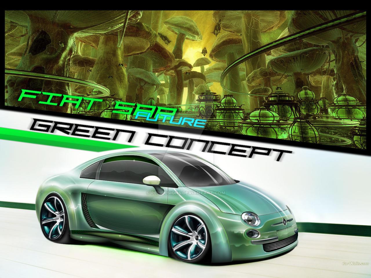 fiat 500 future green concept by pepidesigns on deviantart. Black Bedroom Furniture Sets. Home Design Ideas