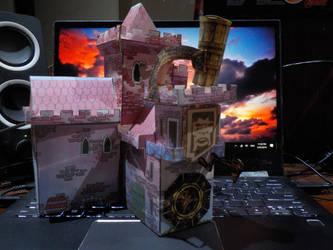 wip papercraft castle by SevenSidedCube7