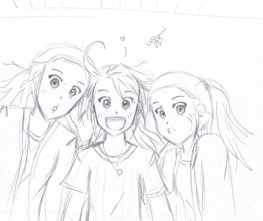 Anime Friend Sketches Sketch Coloring Page