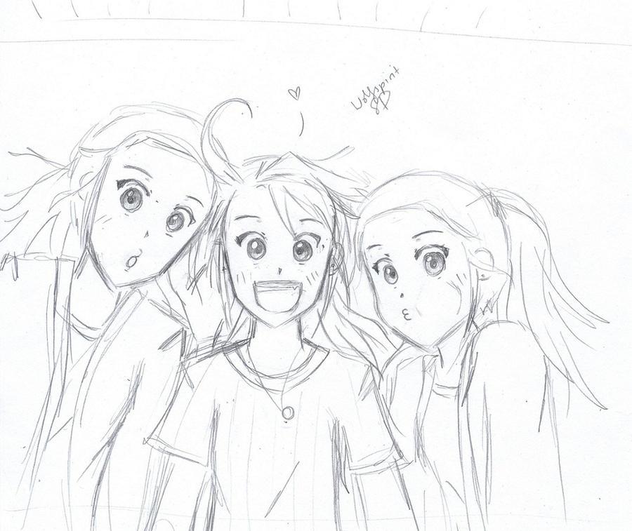My Friends- sketch by wolfspiritsd