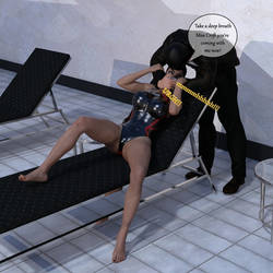Lara Croft kidnapped with chloroform from pool P02 by Akahando
