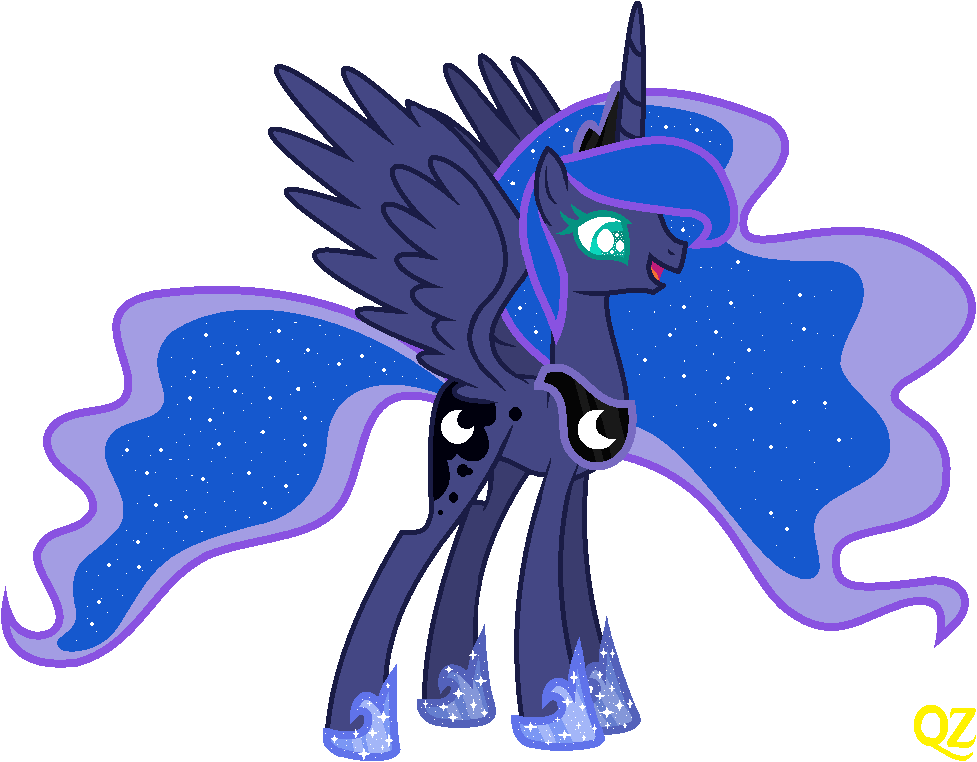 Mlp Princess Luna In Celestia 39 S Style By Qz By Queenzodiac On Deviantart