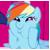 Rainbow Dash Face Smush icon by mariokinz