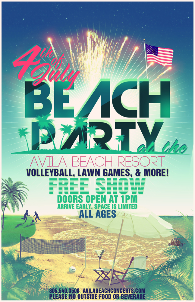 Beach Party 4th of July Flyer by DeWeirdo on DeviantArt