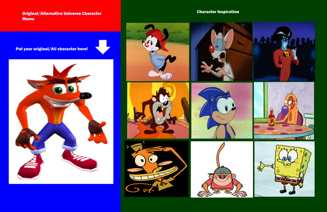 Crash Bandicoot's Inspirations by Prentis-65