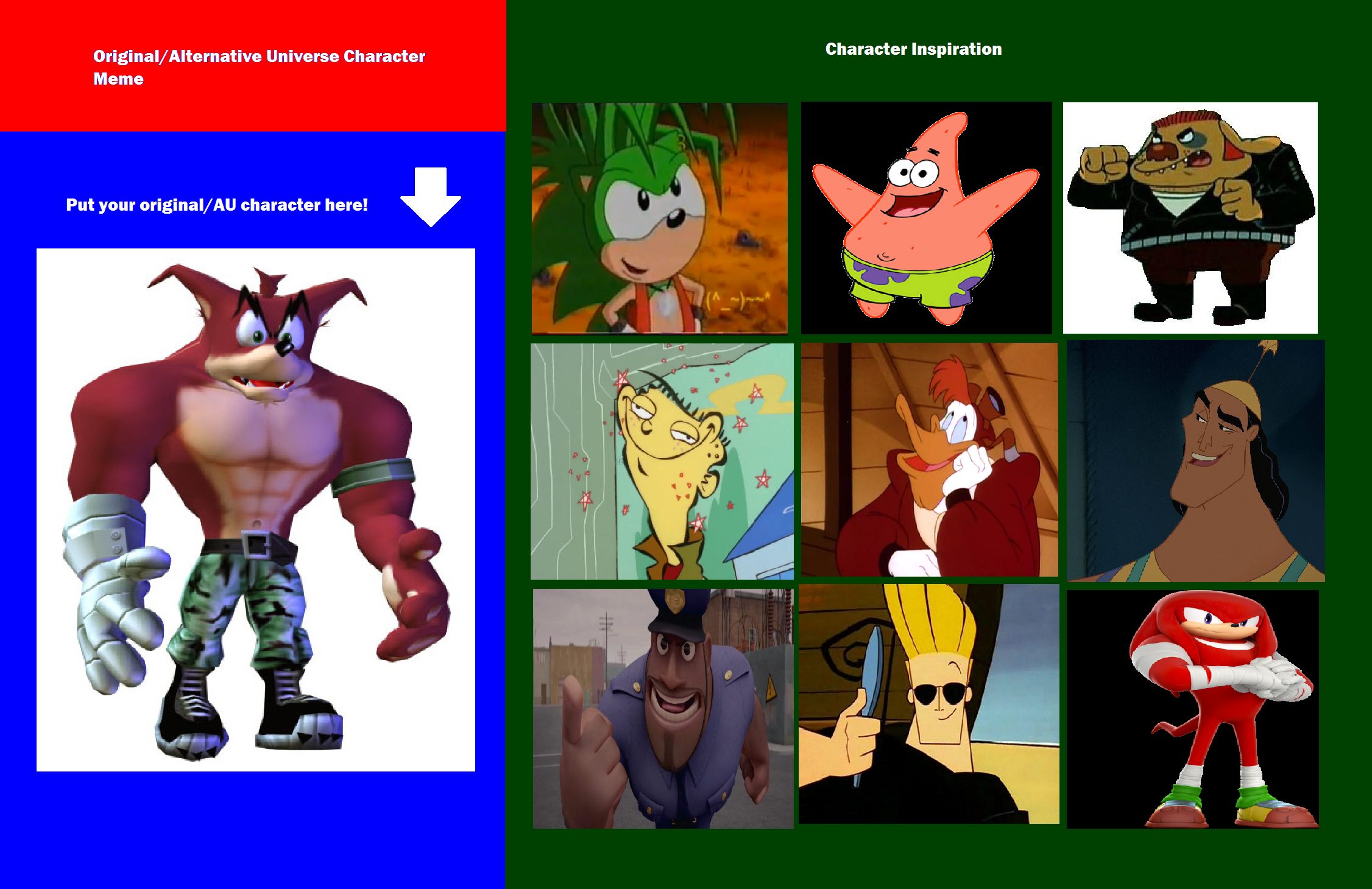 Crunch Bandicoot's Inspirations by Prentis-65