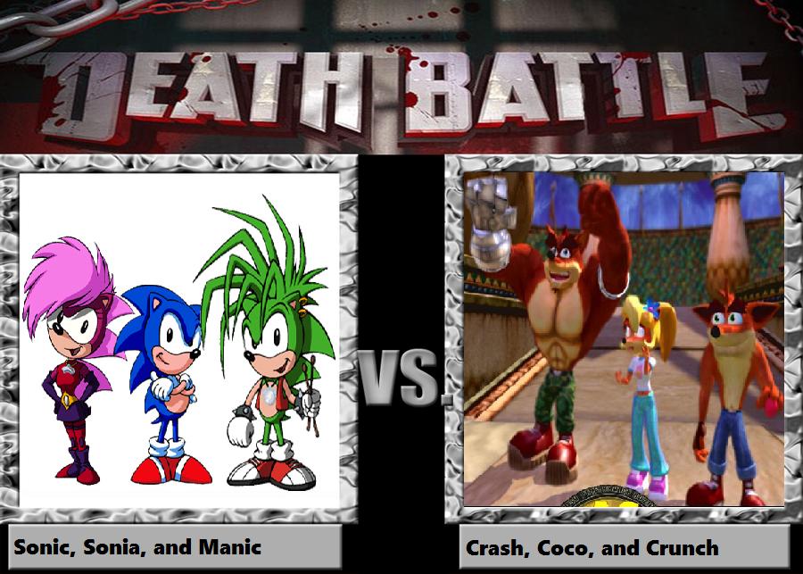Death Battle Hedgehogs Vs Bandicoots By Prentis 65 On Deviantart